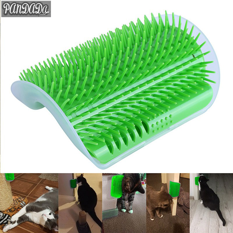 Pandada Catnip Cat Supplies Cat Corner Comb  Pet Products Brush Massage Machine Plastic Carding Toy Jp -20%