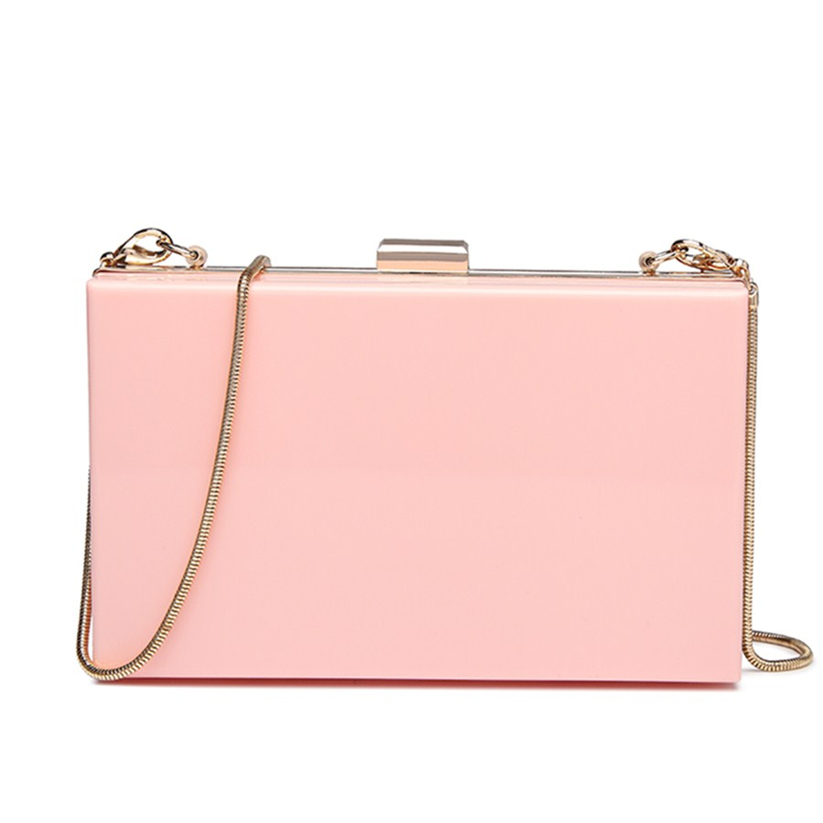 Acrylic Box Clutch Handbag Chain Women Clutches Ladies Evening Party Bags Female Clutch  ...