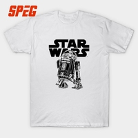Star Wars 8 Bit R2D2 Robots T Shirt Movie Short Sleeve Tops 100 Pure Cotton Round