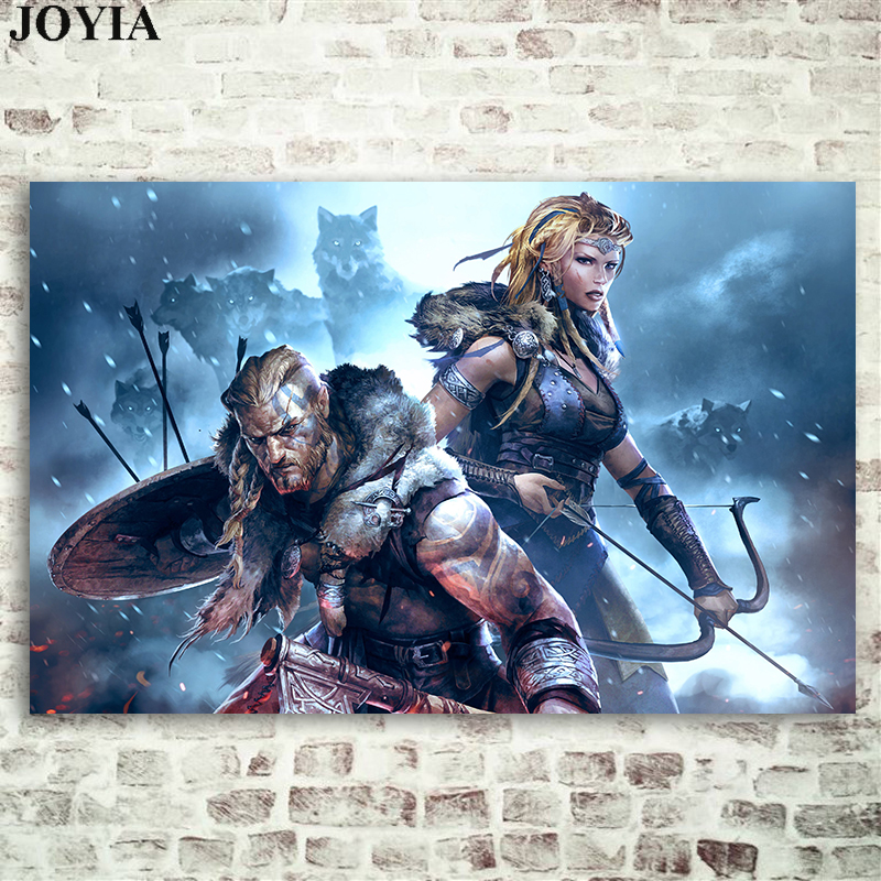 Vikings War of Clans 2018 Strategy Game Poster Prints MMO Art Picture