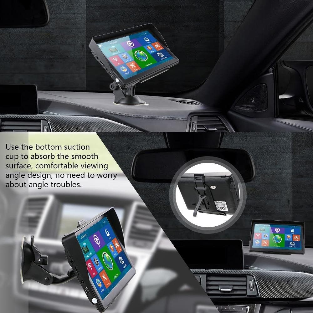 Podofo 7 ''Сенсорный экран автомобилей Sat Nav GPS навигационная система с Карты Встроенная 8 Гб Встроенная память FM радио MP3 MP4 автотранспортных средств