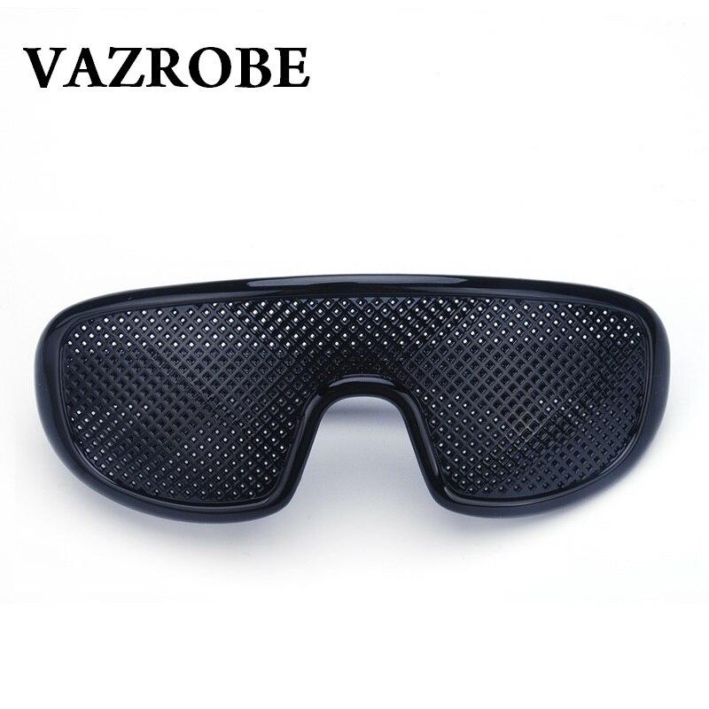 Vazrobe Pinhole Glasses Black Anti Fatigue Hallow