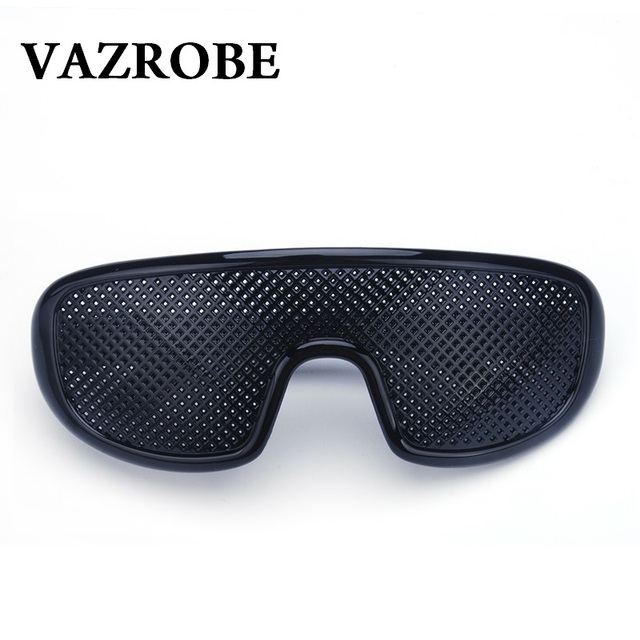 b41e10408f2 Vazrobe Pinhole Glasses Black Anti Fatigue Hallow Sunglasses Small Hole Anti  Myopia Eyewear High Quality Plastic