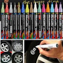 Новая Водонепроницаемая Перманентная краска для шин, ручка для автомобиля, мотоцикла, велосипеда, креативный металлический маркер, цветная ручка