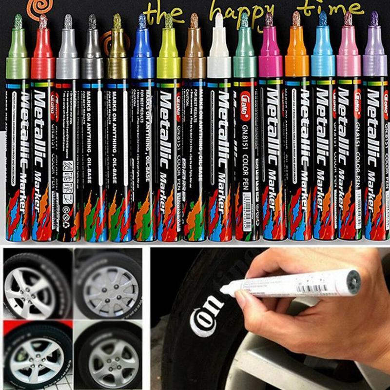 New Waterproof Permanent Tyre Paint Pen Car Motorcycle Bike Creative Metallic Marker Color Pen