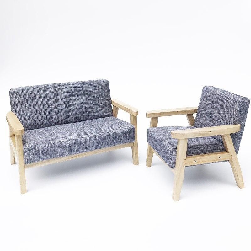 G08-X110 enfants bébé cadeau Jouet 1:6 Dollhouse mini Meubles Miniature rement Japonais-style canapé chaise 1 pcs