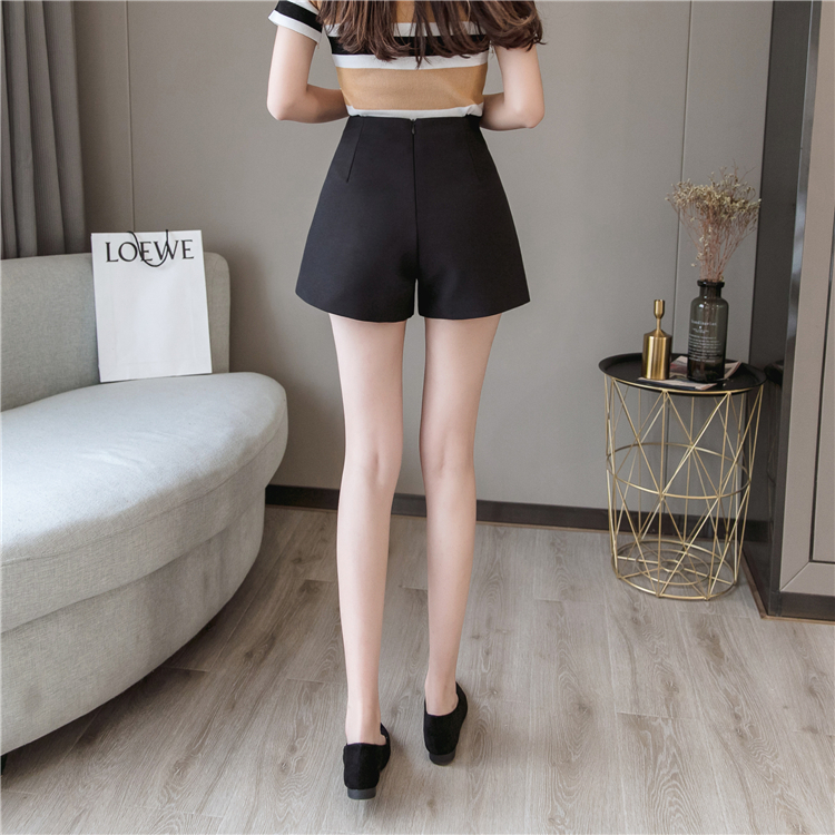 Summer Shorts For Women 2019 High Waist Casual Wide Leg Shorts Loose OL work Wear Solid Shorts 10