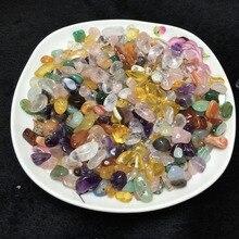 50 г AAAA++ Природный смешанный цвет кварц полированная кристалл гравий образца Crystal Любовь натуральных камней и минералов аквариум камень