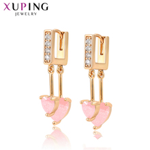 Xuping Vintage Temperament Heart Shape Long Studs Earrings Gold Color Plated Jewelry for Women Girl Graduation Gift S196.5-97942