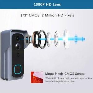 Image 5 - WiFi Akıllı Video Kapı Zili Kamera Ev Güvenlik Monitör Gece Görüş Video Interkom SmartLife APP Kumanda Üzerinden iOS Android Telefon