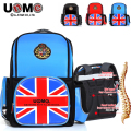 UNME schoolbags royal prince and princess style children's school bags backpack campus waterproof leather bag best brand bags
