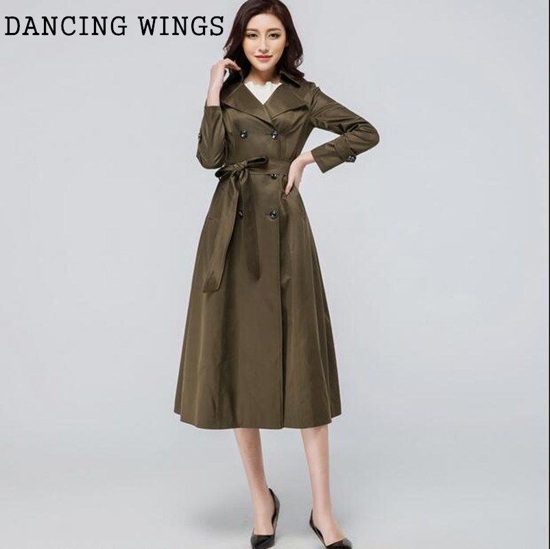 discount sale factory outlets stylish design British Style X-long Trench Coat For Women Double Breasted ...