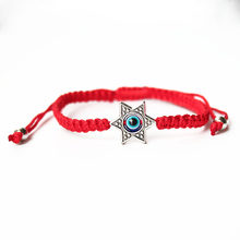 ISINYEE Fashion Star Of David Hamsa Charm Bracelet For Women Girls Lucky Red String Rope Braided Evil Eye Bracelets Hand Jewelry(China)