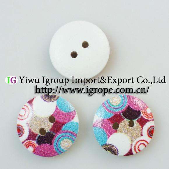 №100 UNIDS ronda pintura botones de madera de 15 MM de coser ropa de ...