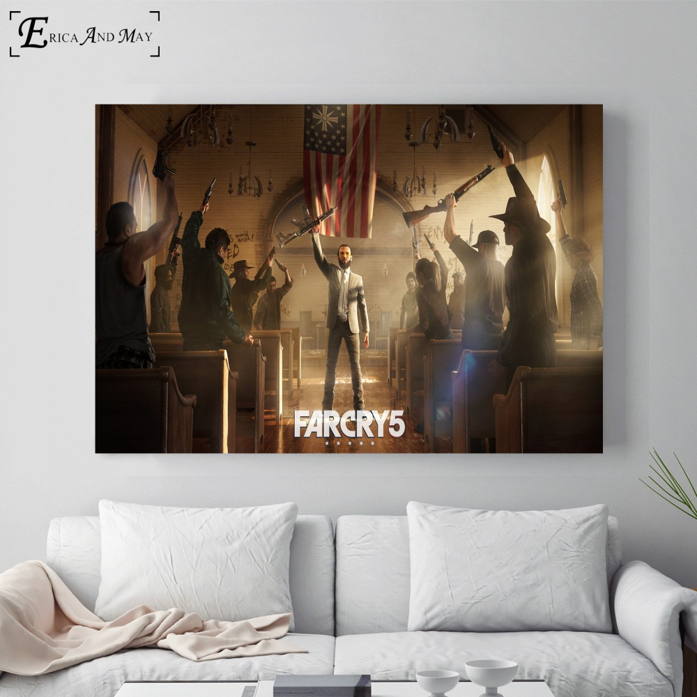 Far Cry 5 HD Video Game Cotton Canvas Art Print Painting Poster Wall Pictures Home Decoration Wall Decor No Frame On Sale image