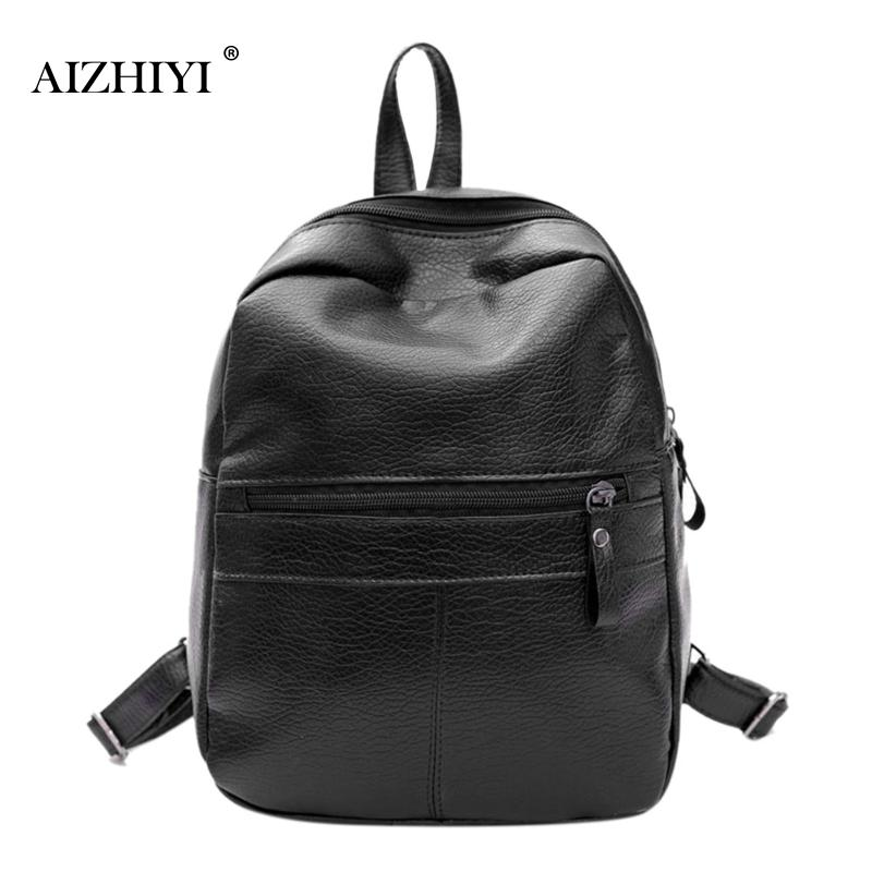 Backpacks for Teenage Girls School Bags Fashion Women Casual Soft PU Leather Backpack Ladies Travel Rucksacks Students Bookbag melodycollection candy color pu leather mini backpack for women girls purse fashion schoolbag mini casual daypack dome backpacks