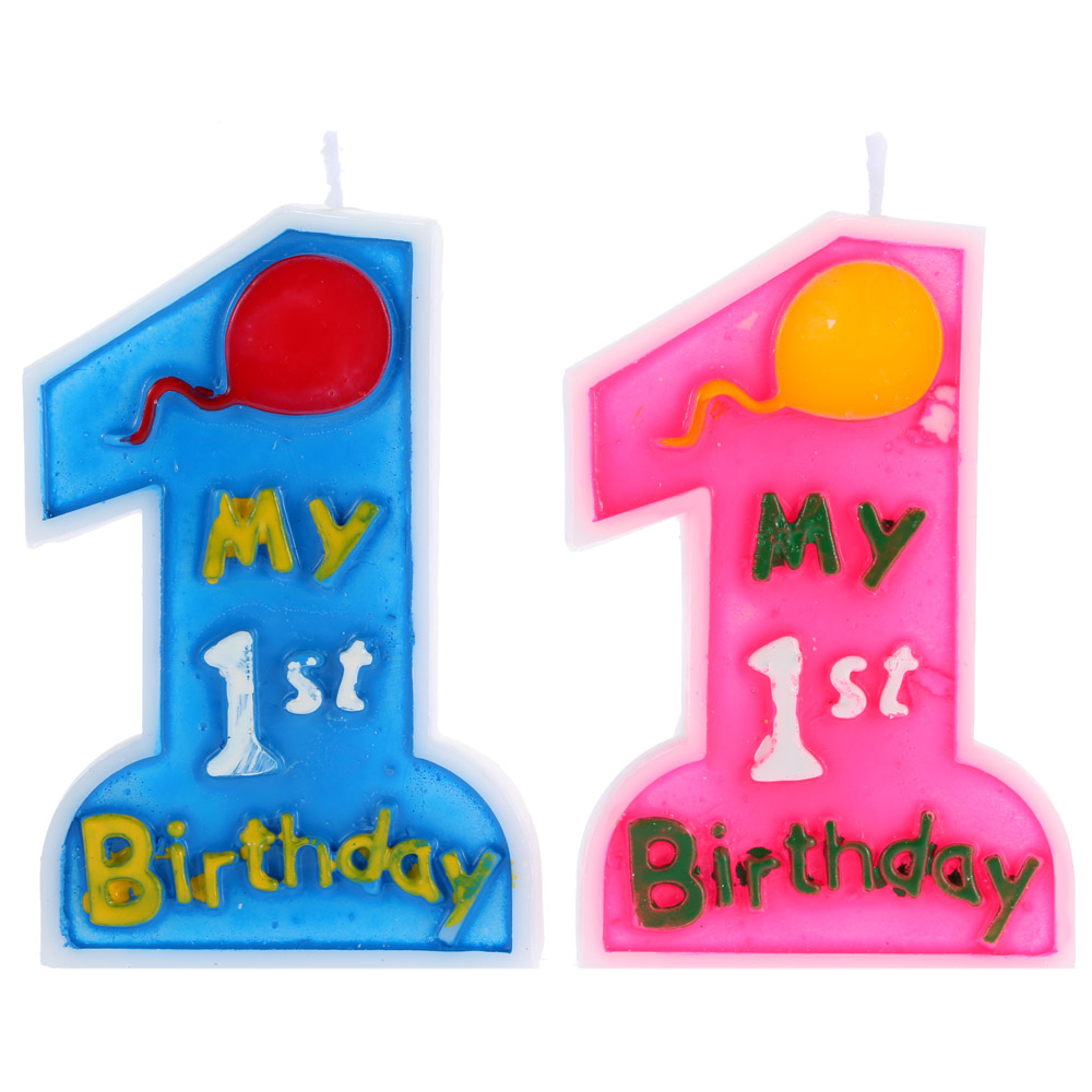 New Arrival Anself My 1st Birthday Cake Candle Kids First One Decor Anniversary Party Decoration Supplies Pink Blue