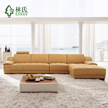 Lim muebles modernos cuero en forma de l sof sof de la esquina marca wq6881 en sof s de sala - La forma muebles ...