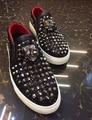 Новая Мода Квартиры Обувь Мужчин Роскоши Алмаза Заклепки Марка Мужчины Пиджаки Скольжения На Вождение мокасины Повседневная Обувь Большой Размер US11 обувь