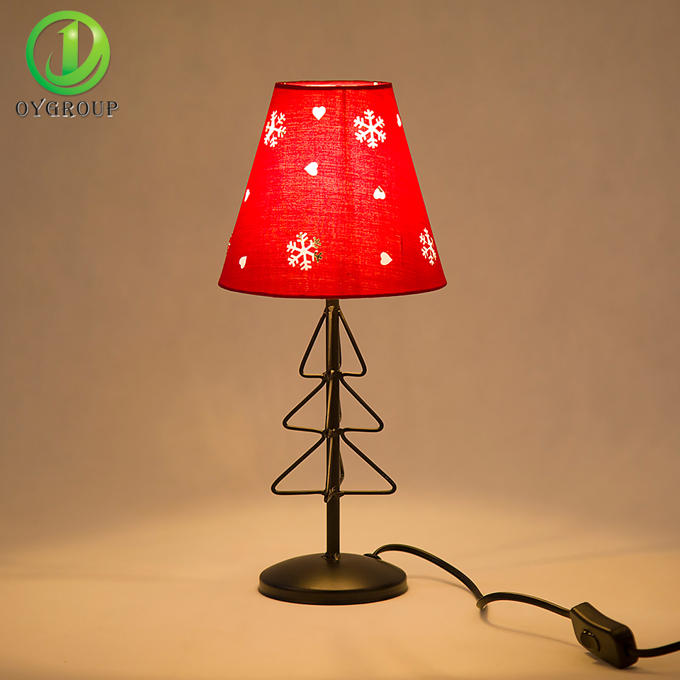 Christmas table lamps lights living room bedroom study hotel bar red christmas table lamps lights living room bedroom study hotel bar red chimney lighting fixture home decoration modern fashion kid in table lamps from lights aloadofball Images