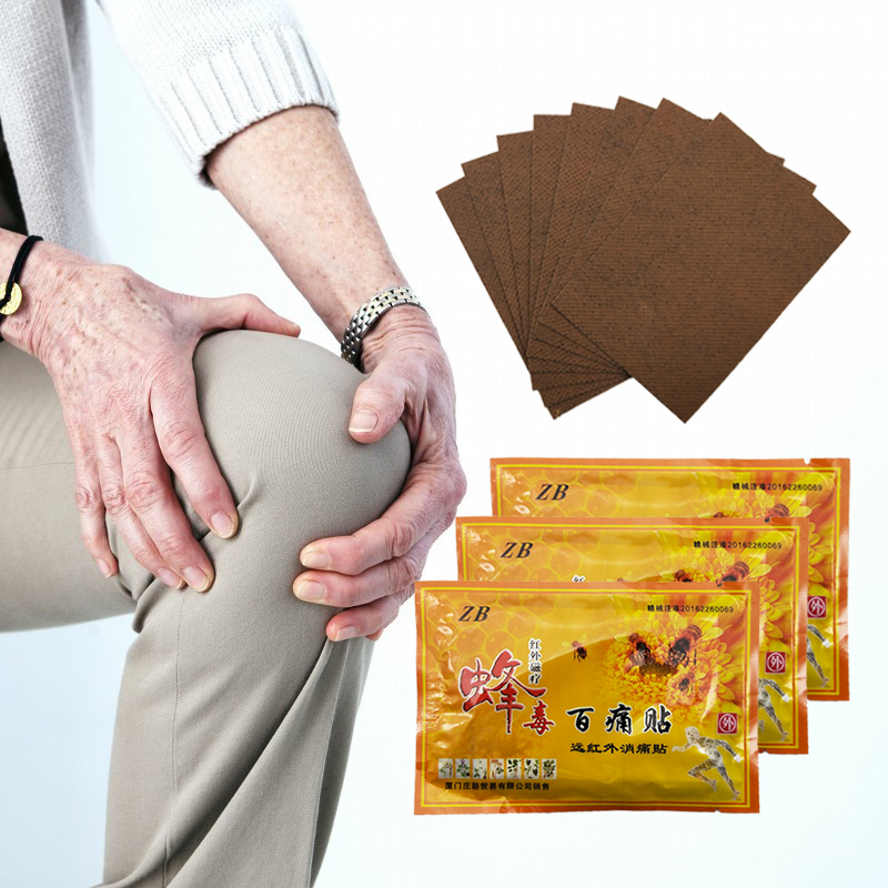 80PCS/10BAGS Chinese Medicines Bee Venom Balm Joint Pain Patch Pain Killer Body Massager Relax Neck Back Body Relaxation Plaster