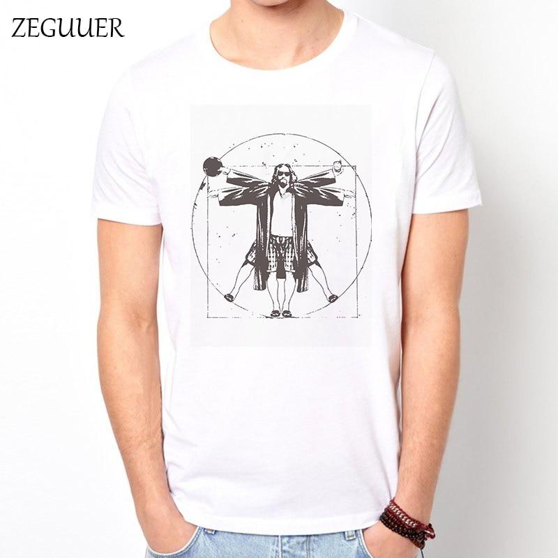 Big Lebowski T Shirt Funny T Shirts Streetwear T Shirt Men Harajuku Boyfriend Gift Fashion Casual Clothes Print Fashion Cotton