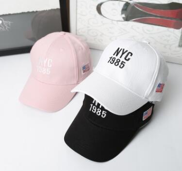 2017 children baby baseball cap hats girls boys snapback cap casquette letter NYC curved summer hat sun hat mesh children caps Бейсболка