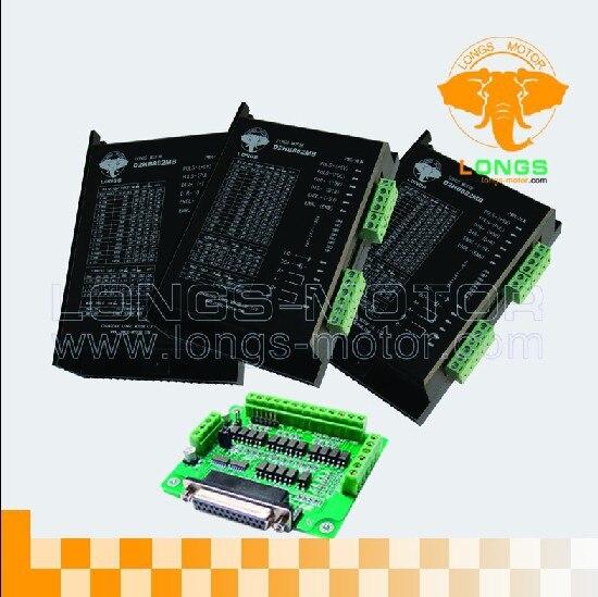 3 axe moteur pas à pas pilote DM860A PIC 7.8A, 256 micsteps pour CNC Routeur contorller conseil DB25-longs moteur