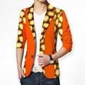 Пользовательские Dashiki Мужчин Африканского Печати Одежда Мужская Blazer Повседневная Костюмы Куртка мужские Куртки Плюс Размер Одежды Африке BRW WYN133