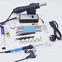 220V 110V 8858 Hot Air Gun BGA Rework Solder Station Hot Air Blower With Soldering iron Welding Repair Tools