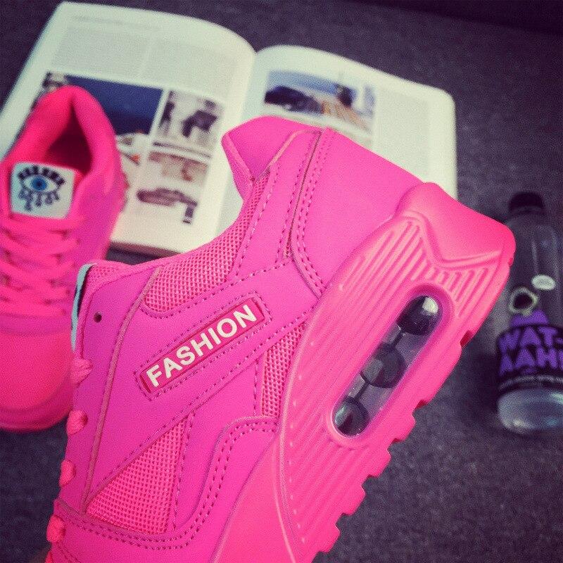 08d649ca646f2 Yeni Varış Marka Tasarımcı Spor koşu ayakkabıları hava yastığı Hafif Nefes  Sneakers Bahar Moda Kadın koşu