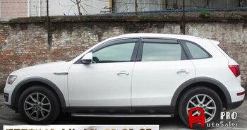 Chrome Stripes Janela Visor Ventilação Shades Sun Guarda Chuva Defletor Para Audi Q5 2010-2016