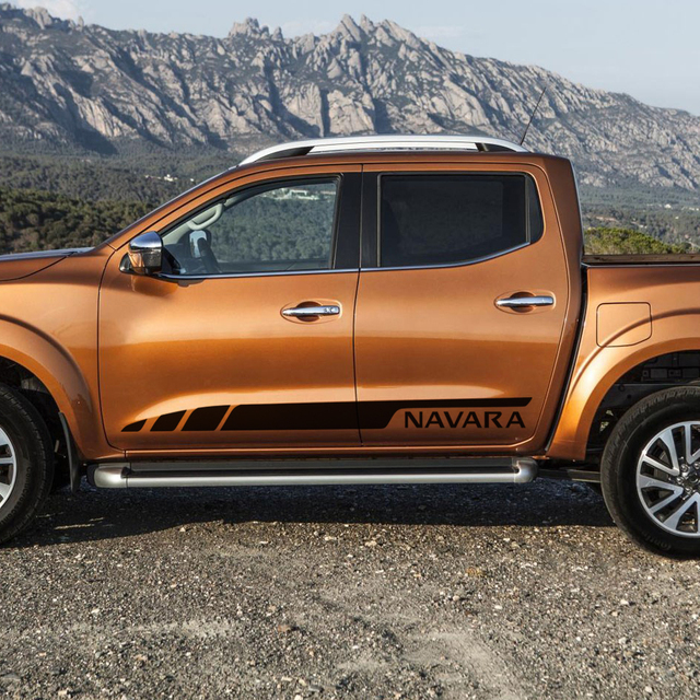 customize for NAVARA NP300 2015 on car modified acessories sticker 2 PC side door stripe graphic Vinyl protect scratch stickers