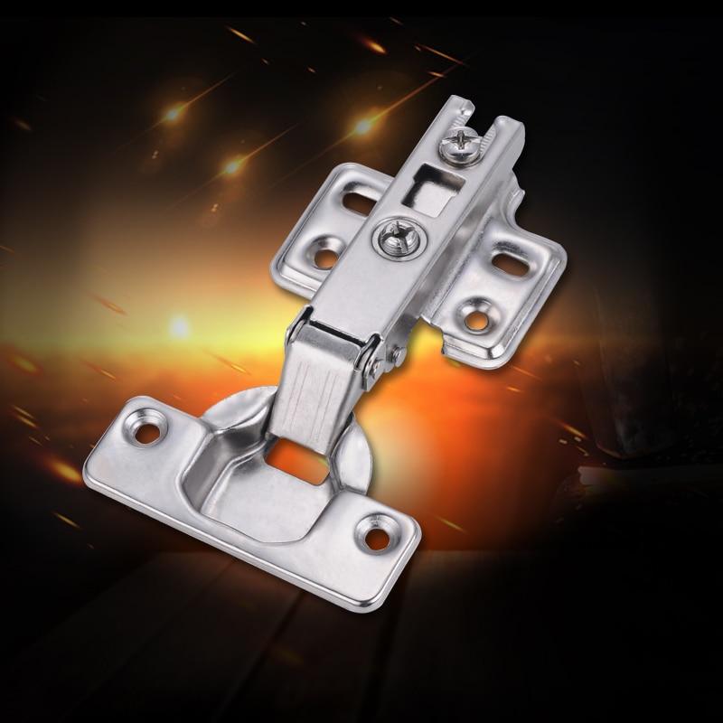 Myhomera 4Pcs Cabinet Hinge Stainless Steel Door Hydraulic Hinges Damper Buffer Soft Close Cupboard Furniture Full/Half/Embed