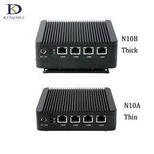 Мини-ПК X86 4 * lan настольных ПК с Celeron J1900 Quad Core 4 * USB VGA межсетевой экран Multi- Функция маршрутизатор