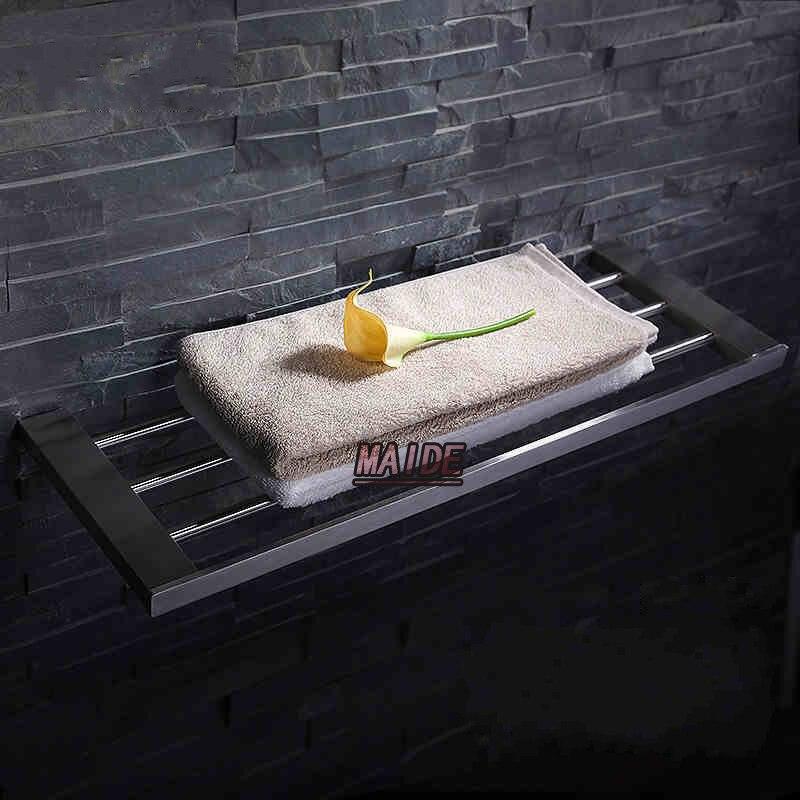 Aliexpress New Bathroom Wall Mounted 304 Stainless Steel Brushed Nickel Towel Rack Holder Bar Rail Storage Shelf From