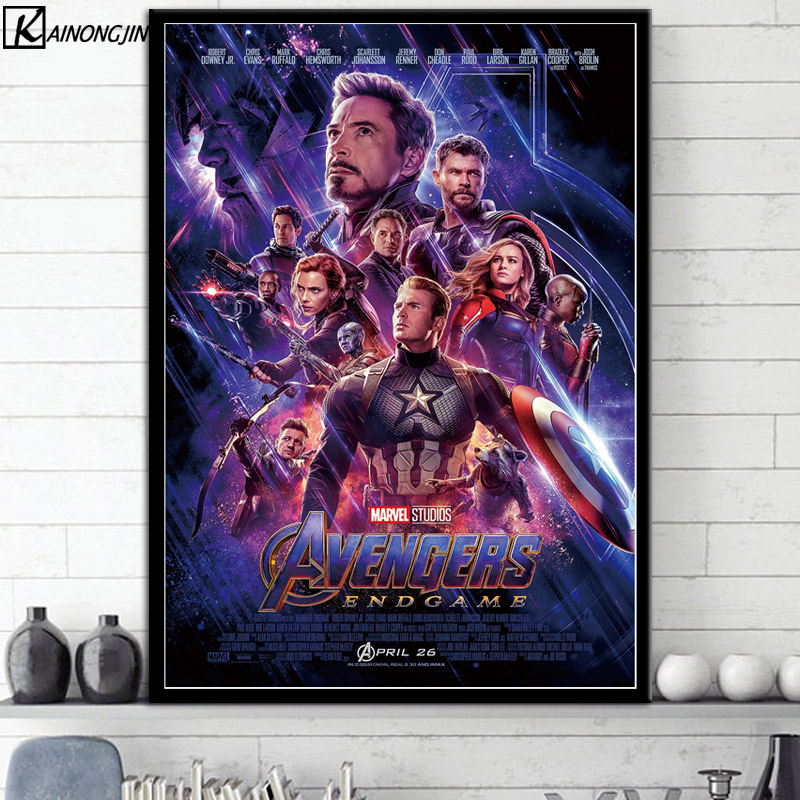 Горячие постеры и принты Marvel кинематографическая Вселенная коллаж Мстители художественный плакат marvel End игра Настенная картина холст живопись