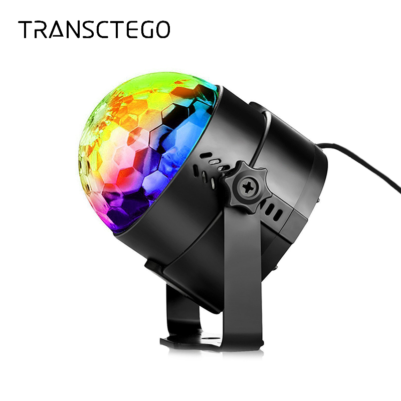 Party Light Disco Ball Rotating Sound Activated Strobe Stage Lamp For Birthday DJ Kids Xmas Lumiere Soundlights LED Disco Lights