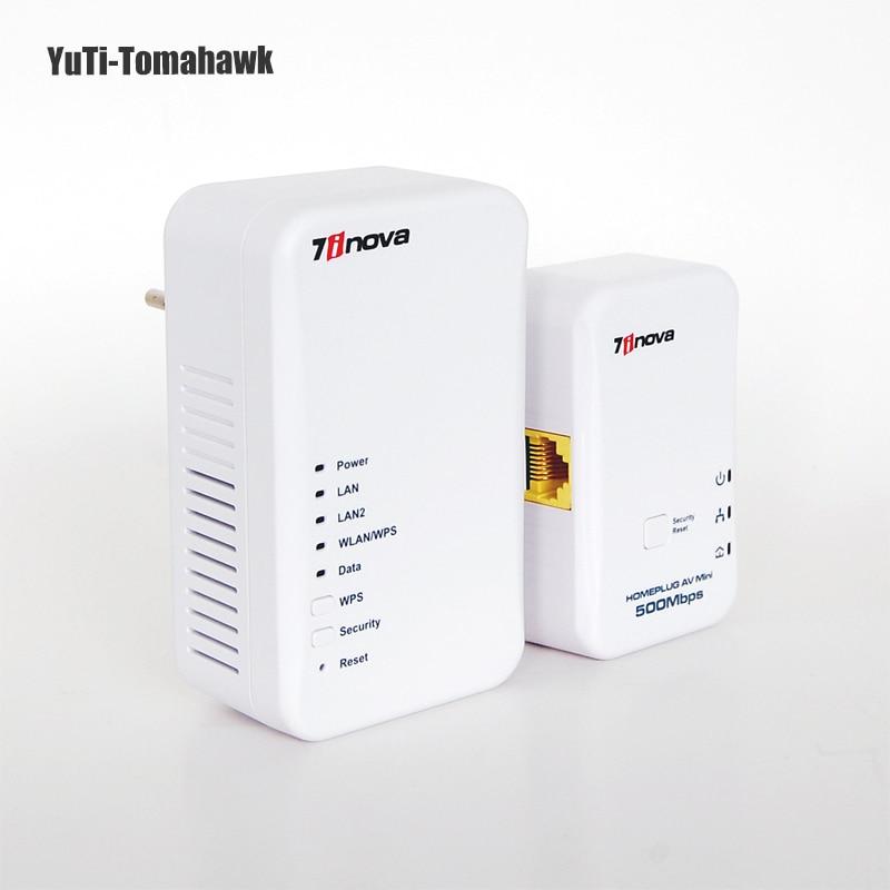 500 Mbps vitesse Powerline 300 Mbps vitesse sans fil/filaire Homeplug AV Powerline adaptateur Ethernet points d'accès Wifi routeur sans fil