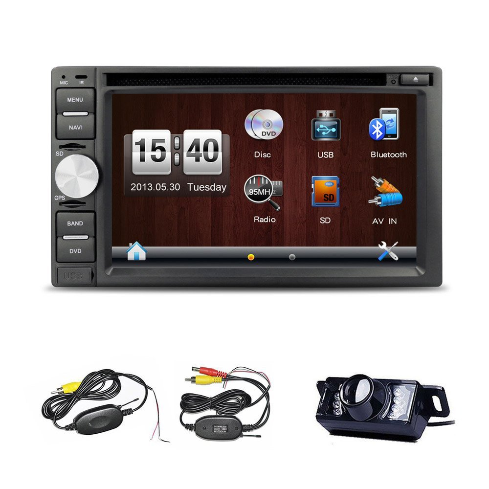 "6.2"" Double Din Car Stereo HD Touch Screen In Dash Gps"