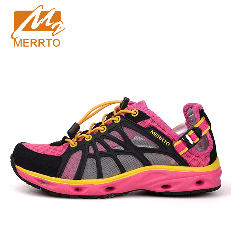 цены MERRTO 2016 New Brand Women Beach Water Aqua Shoes Upstream Fishing Wading Shoes Water  Breathable Sneakers  #18376-1