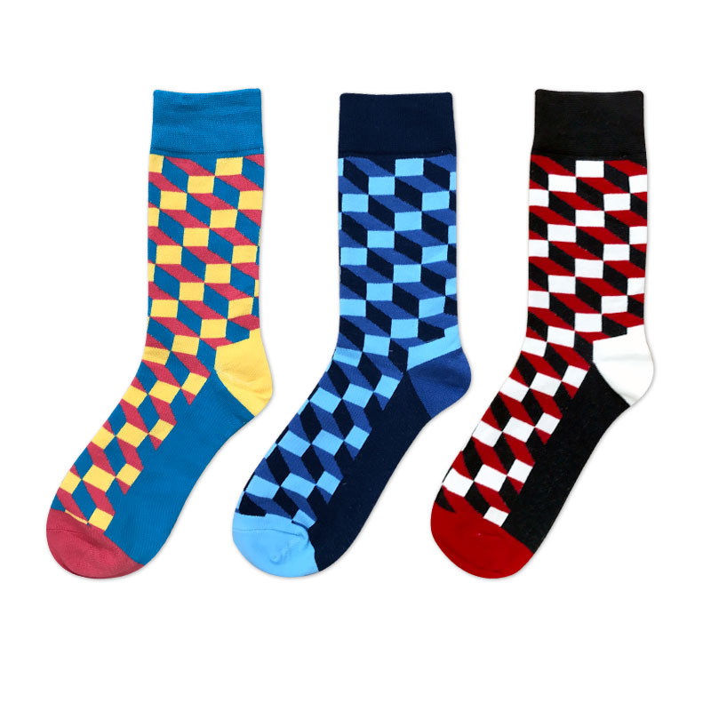 Men Socks Personality Fashion Cartoon Bee Dove Tulip Flower Happy Funny Stitching Harajuku Street Style Male Hip Hop Skate Sock Convenient To Cook Underwear & Sleepwears