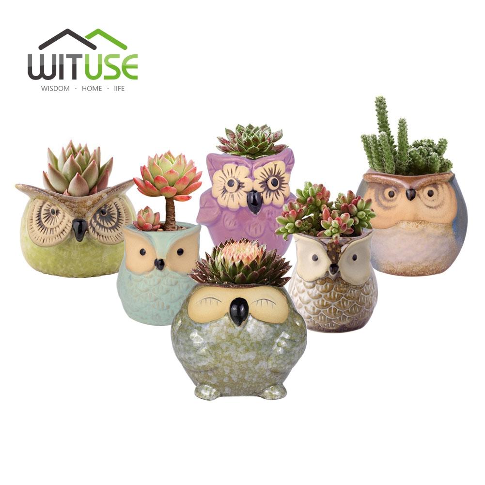wituse bho maceta de cermica vidriada macetas plantas decorativas arcilla maceta de jardn para balcones pequeos