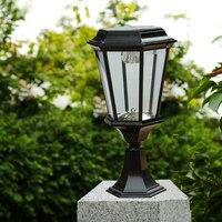 Retro Solar Stigma Licht Aluminium spuitgieten Hoogtepunt LED Tuinverlichting 2 W Waterdicht Gazon Licht Zwart Automatische Opladen