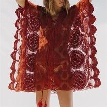 Lace Beach Pareo Beachwear Swim suit Cover up Playa Tunics for Tunic Swimwear Women Dress