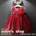 EMS DHL Free shipping Baby Girls Children 2017 NEW Spring Summer Floral tutu dress Bow Kid Dress Casual Wear Princess dress