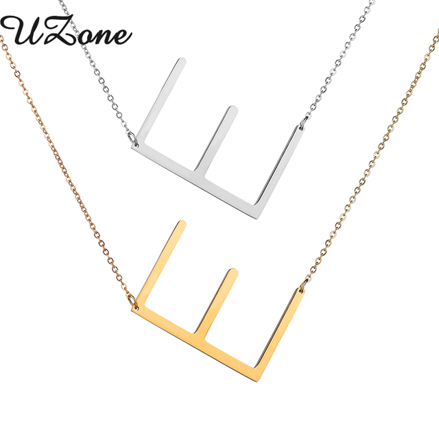 Uzone girls name necklace letter e choker initials pendant necklace uzone girls name necklace letter e choker initials pendant necklace for diy best friend gifts mozeypictures Image collections