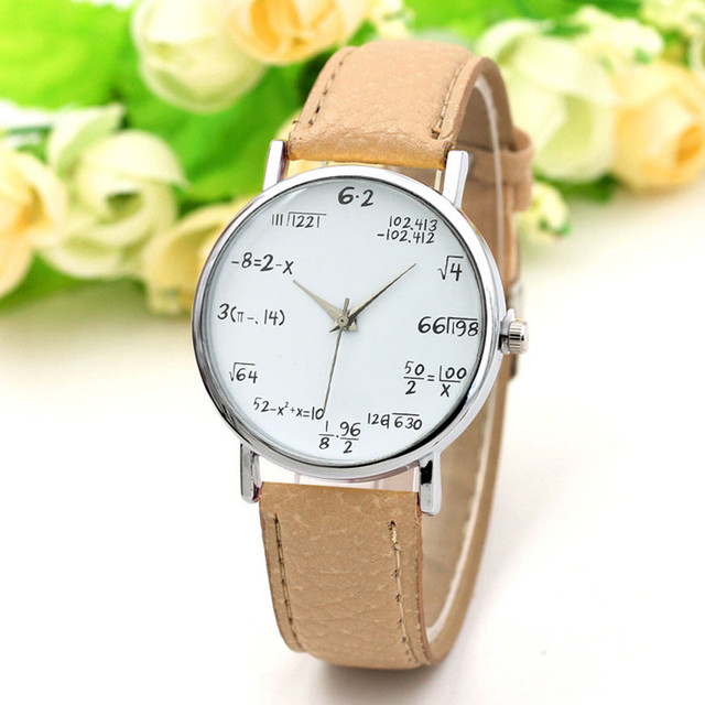 52929173bfd Fantastic Elegant Girls Watches Vogue Casual Mathematical Equation Without Scale  Belt Ladies Watch relojes para hombre Clock B65