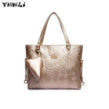 The new 2016 female bag European and American fashion one shoulder bag embossed female bag
