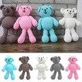Bebê Recém-nascido Meninas Meninos Crochet Knit Fotografia Prop Foto do Urso Toy Presente Bonito